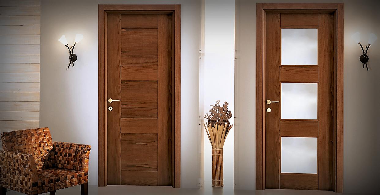 Porte In Legno Moderne : Porte in legno a roma moderne su misura da interno outlet la verderosa