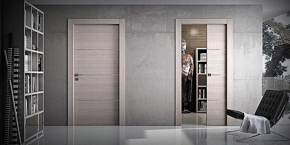 Porte in legno a roma moderne su misura da interno outlet for Arredamenti scalea