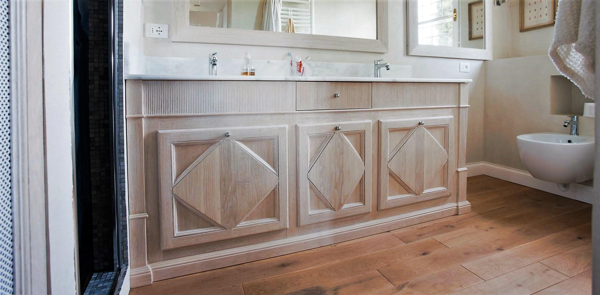 Laverderosa s r l mobili bagno in legno su misura a roma - Arredo bagno legno naturale ...
