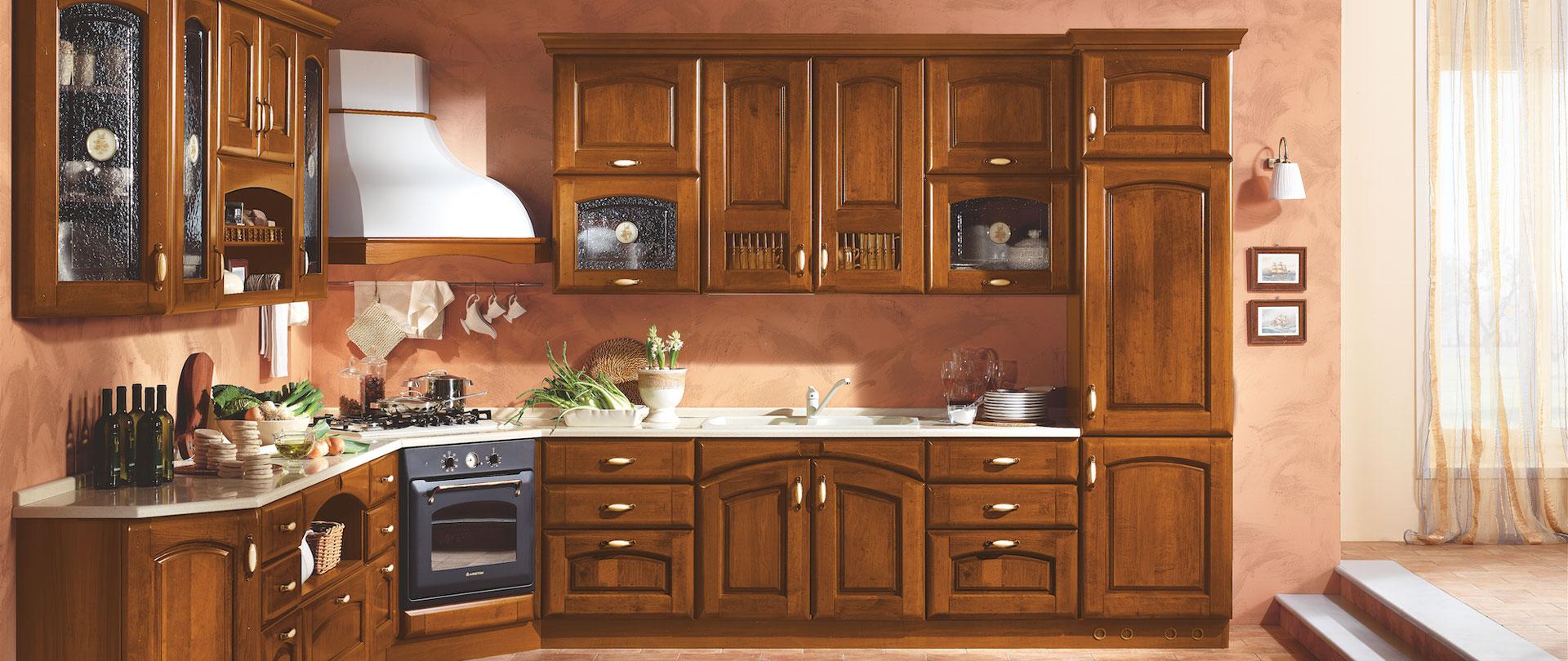 La verderosa s r l cucine in legno su misura a roma for Cucine in stile