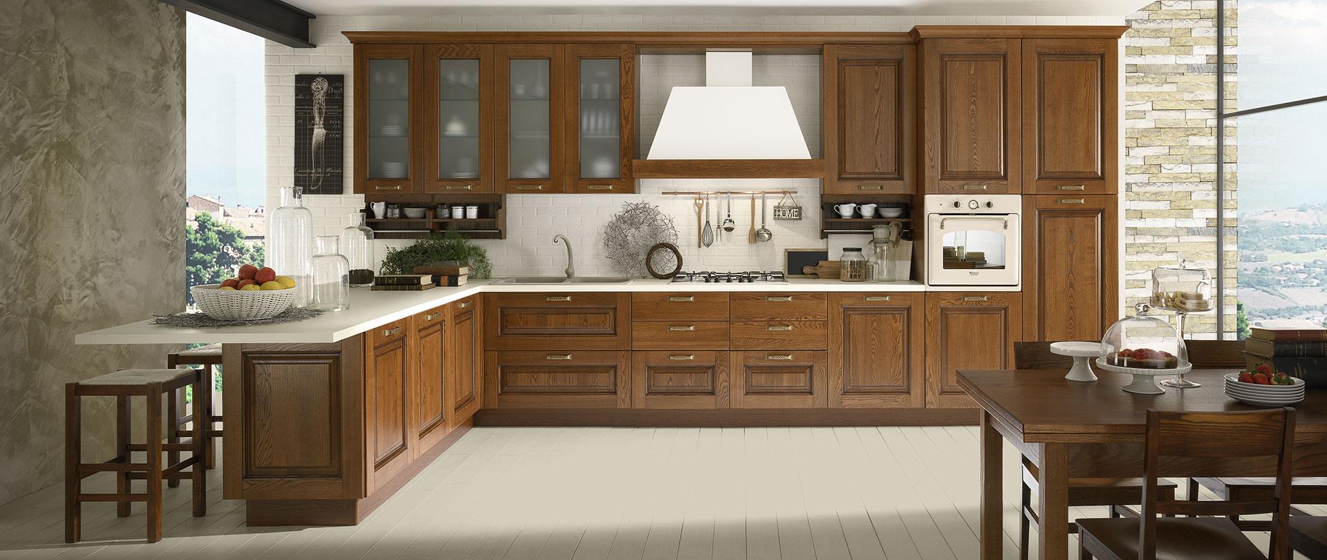 La verderosa s r l cucine in legno su misura a roma classiche e moderne componibili artigianali - Cucine ciliegio moderne ...