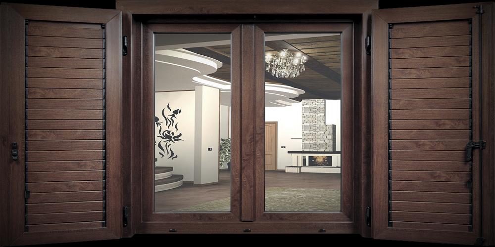 finestra in legno doppia