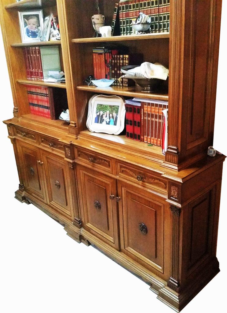 Libreria In Legno Noce.La Verderosa S R L Arredamento In Legno Roma Mobili Su Misura