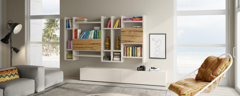 soggiorno-libreria-bianco